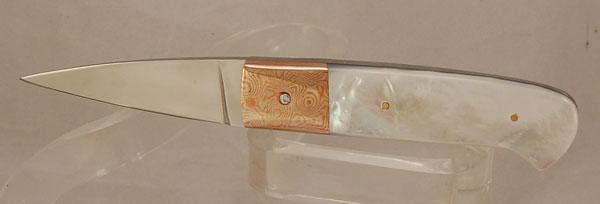Mother of Pearl with Sakmar Mokume