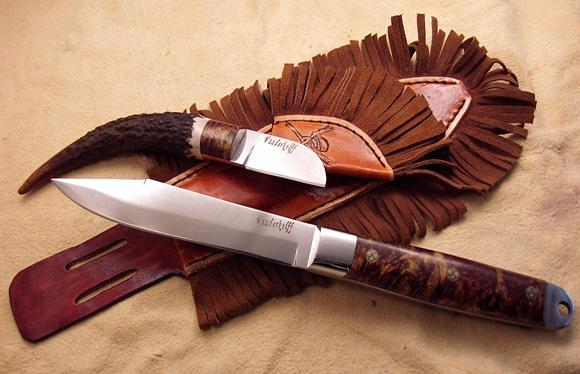 Re-enactment knife with Patch Knife
